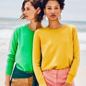 J.Crew Long-sleeve cashmere crewneck sweater